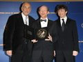 Frank Langella,Ron Howard and Michael Sheen