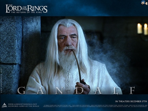 Gandalf-white wisard - lord-of-the-rings Wallpaper