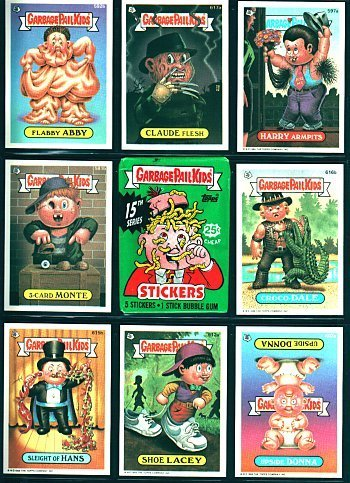 The 80s wallpaper with a slot called Garbage Pail Kids