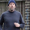 Хью Лори фото entitled Hugh Laurie Takes His Dog For A Jog