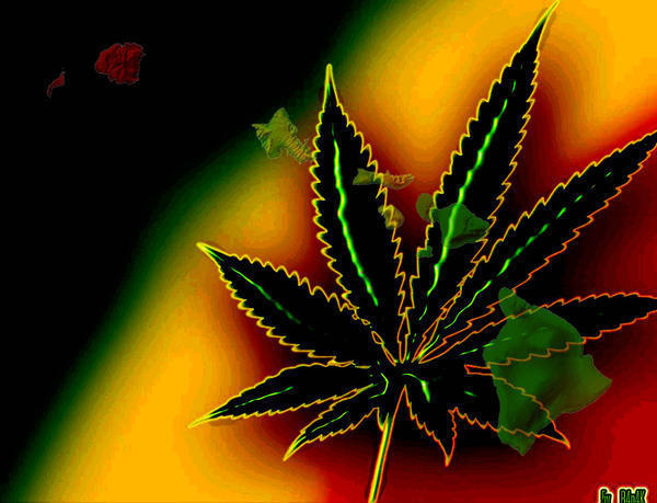 Jamaican Pot Leaf - Marijuana 600x459