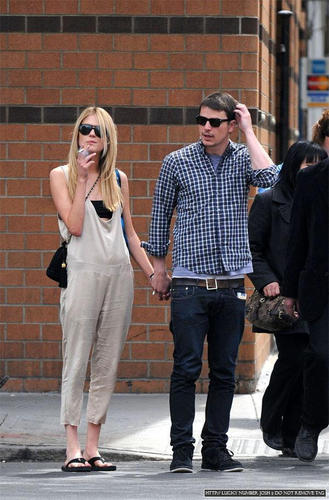 Josh Out And About With Blonde Girl.