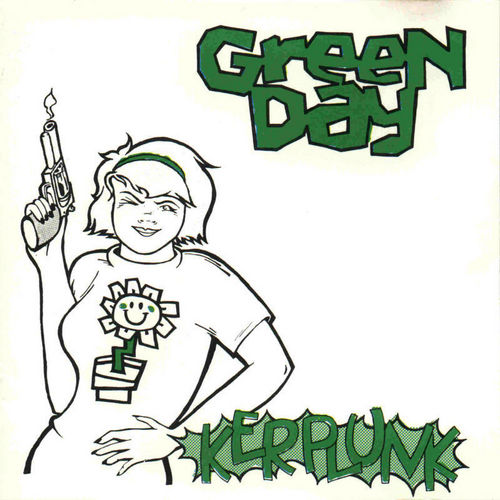 Green Day wallpaper probably with anime entitled Kerplunk! CD Cover Art