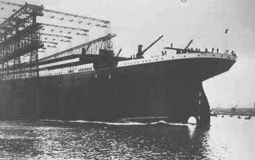 Launch of the RMS Титаник