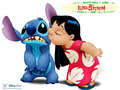 Lilo and Stitch kertas dinding