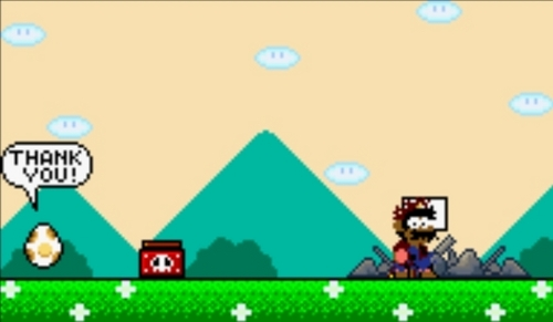 Mario Gets Bombed - super-mario-world Screencap