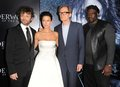 Michael Sheen,Rhona Mitra,Bill Nighy and Kevin Grevioux at the Underworld Rise of the Lycans Premier