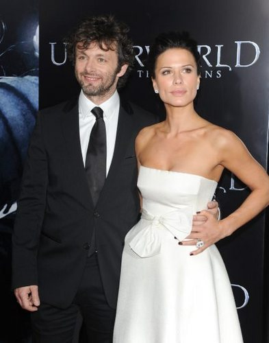 Michael Sheen and Rhona Mitra at the Underworld Rise of the Lycans Premiere