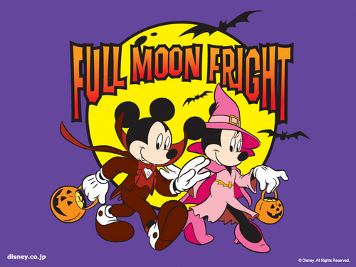 Mickey and Minnie Halloween Wallpaper