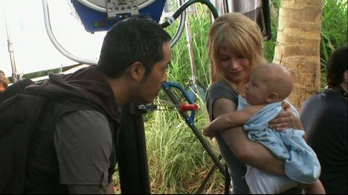 Miles and Claire-Behind the scenes