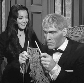Addams Family wallpaper probably containing a business suit entitled Morticia and Lurch