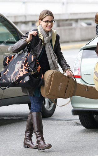 Nikki Reed leaving Vancouver - April 20
