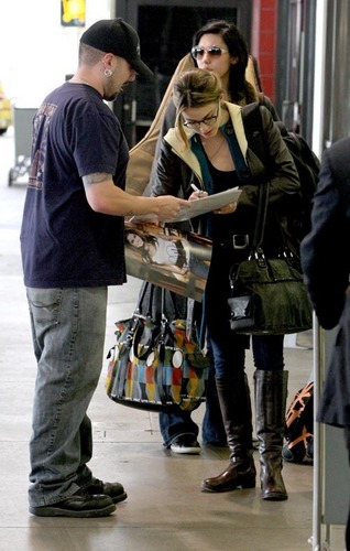 Nikki Reed's LAX Arrival