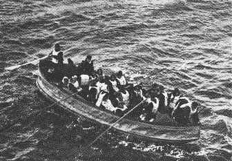 Passengers in lifeboat