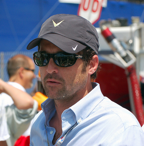 Patrick at Indy Car Race (19th April) - patrick-dempsey photo