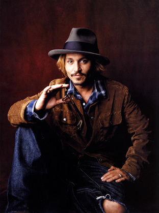 Johnny Depp wallpaper containing a fedora, a boater, and a campaign hat entitled Photoshoot 2003