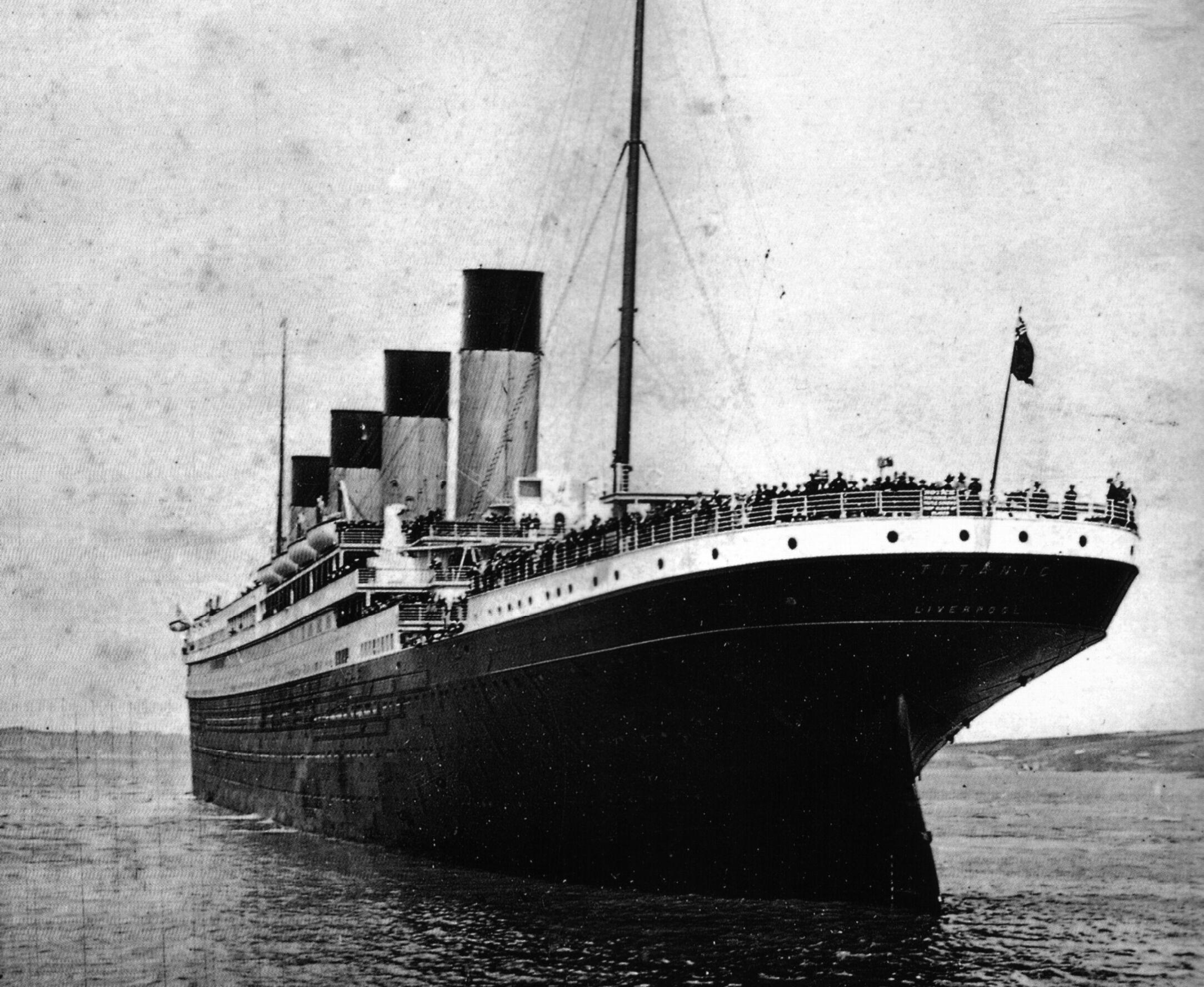 RMS Titanic leaving Southampton