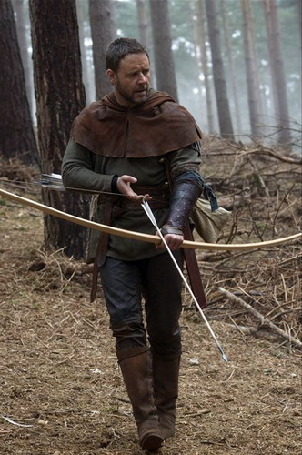 Russell as Robin Hood