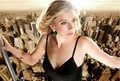 Sarah Chalke scaffolding photo shoot