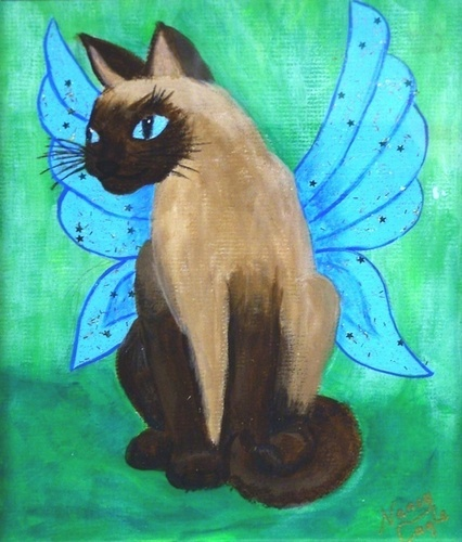 Siamese Cat With schmetterling Wings