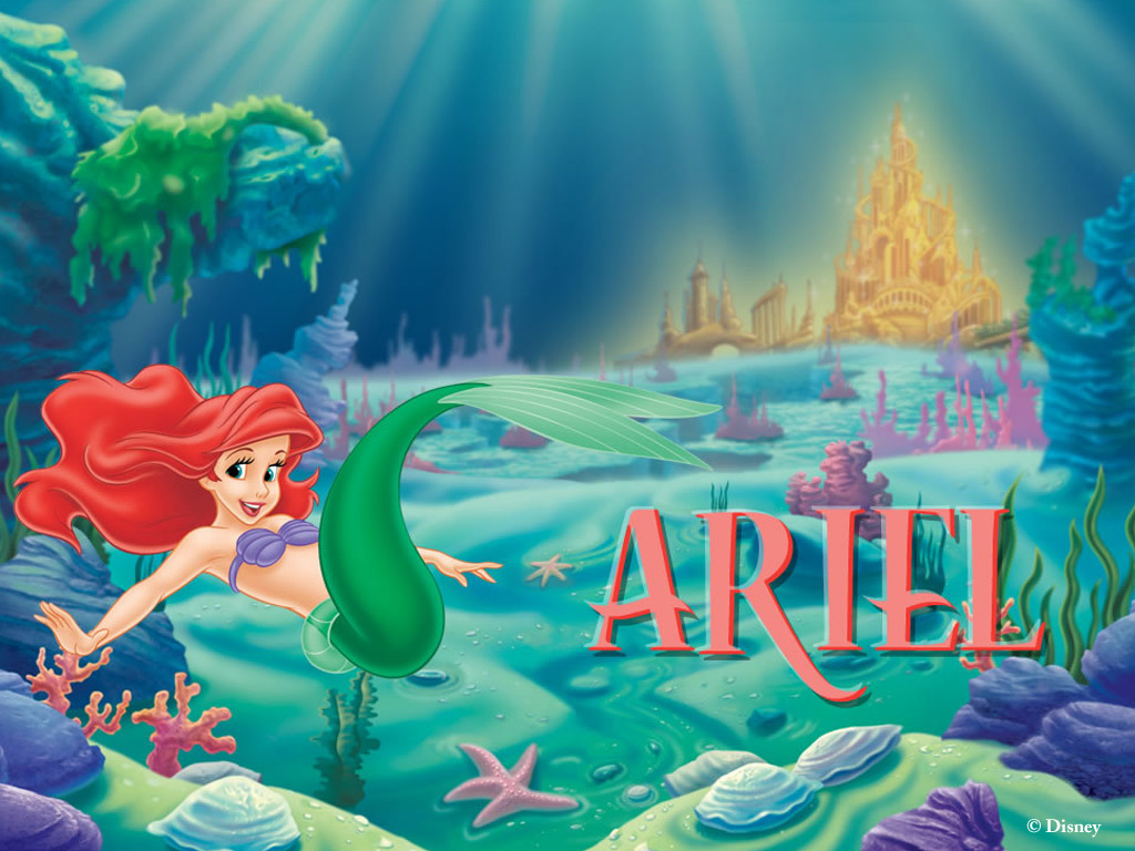 The little mermaid wallpaper disney princess wallpaper for El mural pelicula online