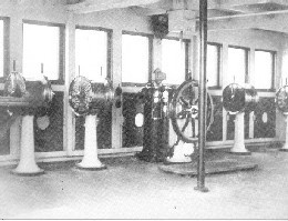 The wheelhouse on Titanic's bridge
