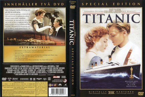 Titanic kertas dinding called Titanic DVD covers
