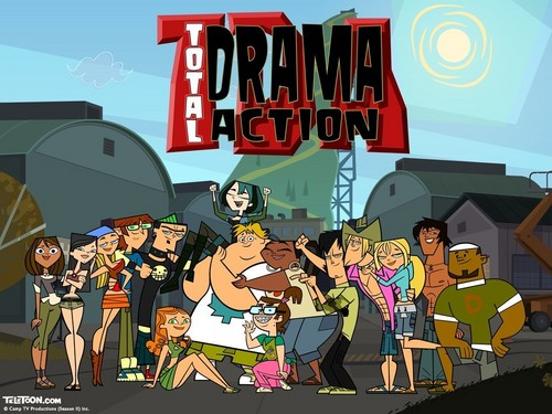 Total Drama Island wallpaper containing anime entitled Total Drama Action Poster