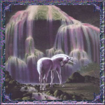 Under the Waterfall - unicorns PhotoUnicorns And Waterfalls