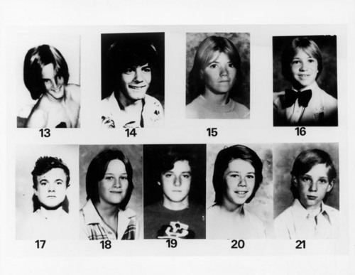 Serial Killers 壁纸 containing a portrait called Victims of the Freeway Killer