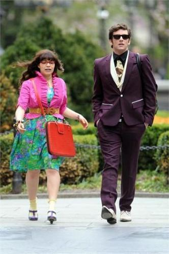 on set of ugly betty- 23 april 09