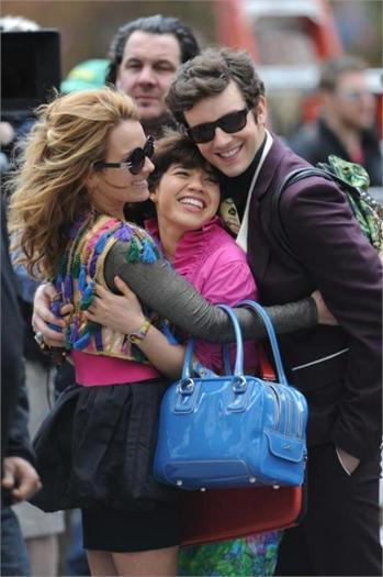 on set of ugly betty - april 23/09