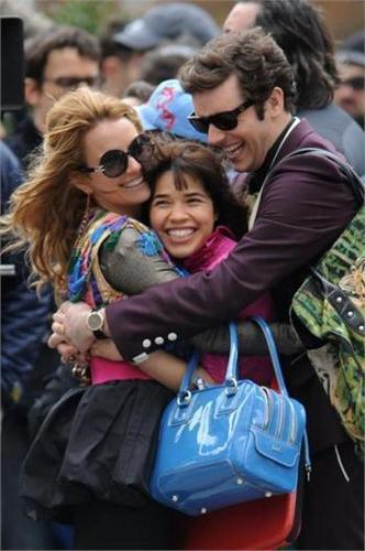 on set of ugly betty- april 24/09
