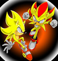 super sonic and super shadow - sonic-the-hedgehog photo