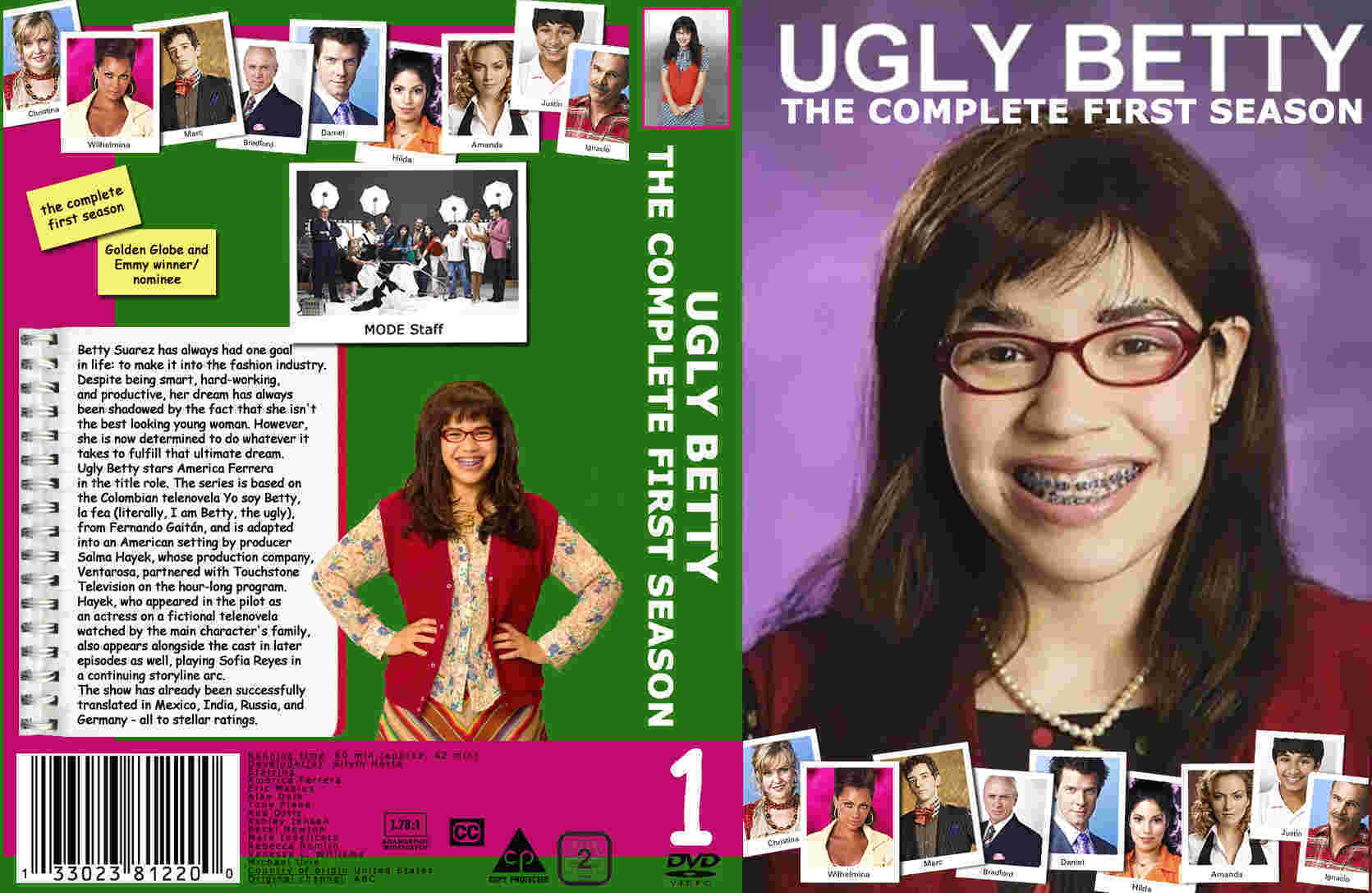 ugly betty season 1 dvd- region 2 custom