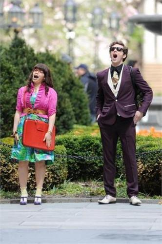 with america ferrera on set of ugly betty- 23 april 09'