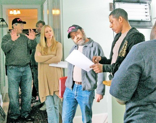 "AJ on the set of ""Misconceptions"""