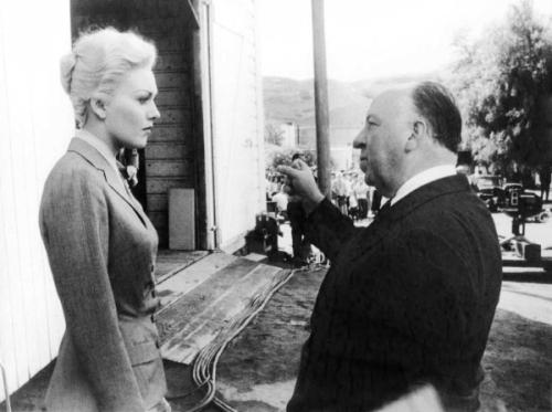 Alfred Hitchcock and Kim Novak