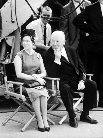 Alfred Hitchcock and Princess Margaret