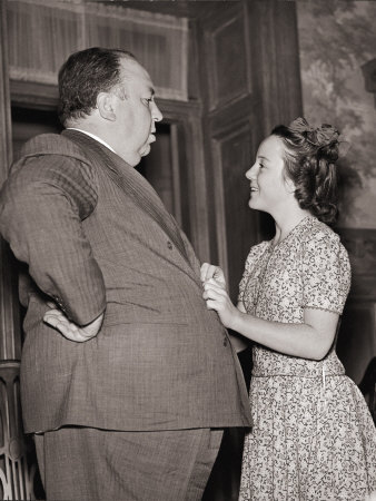 Alfred Hitchcock and his Daughter, Patricia
