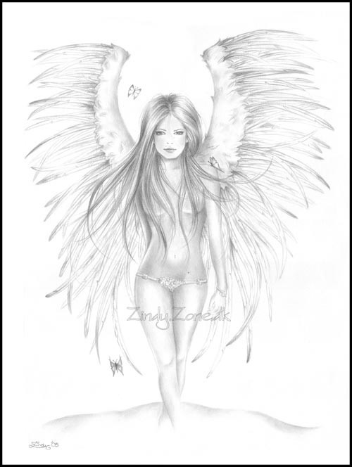 coloring pages of mystical angels - photo#36