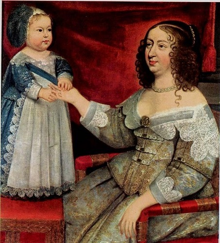 Anne of Austria and her son Louis XIV
