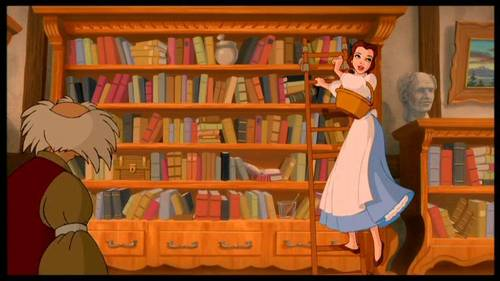 Disney Wallpaper Containing A Bookcase Bookshop And Library Entitled Beauty The