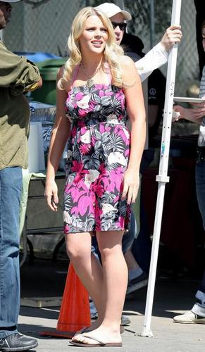 Busy On The Set Of Cougar Town