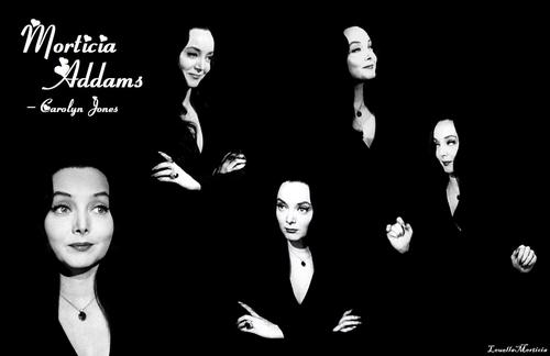 Carolyn Jones wallpaper possibly with a concert, a business suit, and a well dressed person titled Carolyn Jones - Morticia Wallpaper made By LouellaMorticia