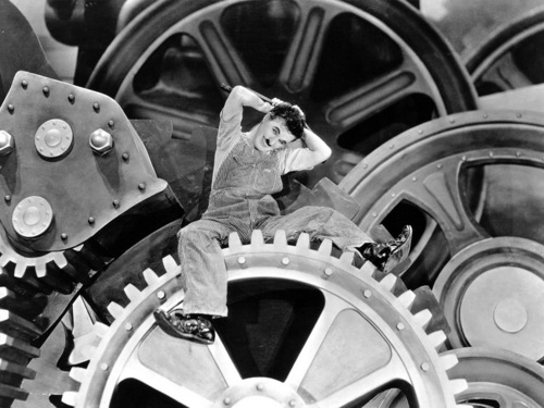 Classic Movies wallpaper called Charlie Chaplin in Modern Times Wallpaper