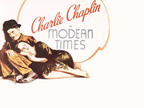 Charlie Chaplin in Modern Times wallpaper