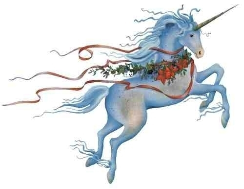 Christmas Unicorn - unicorns Photo