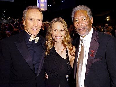 Clint Eastwood,Morgan Freeman&Hilary Swank