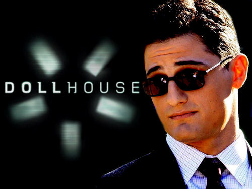 Dollhouse wallpaper with a business suit and a suit titled Victor